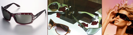 Left, Persol, center, Chrome Hearts, and Vogue