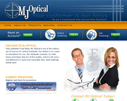 MJ Optical Web site